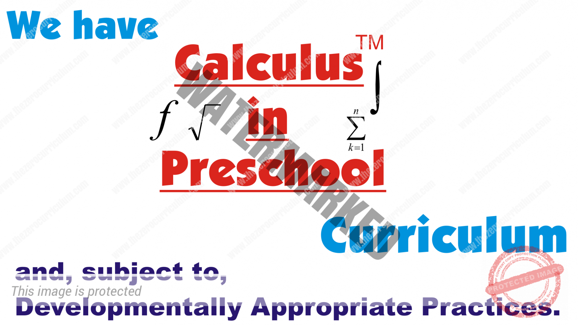 Calculus in Preschool