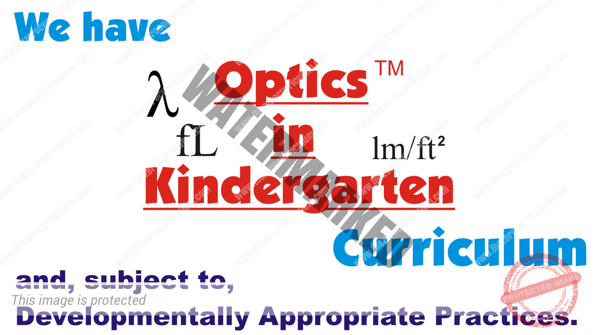 Optics in Kindergarten
